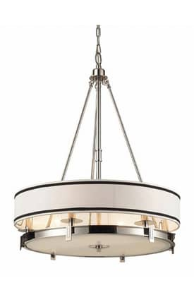 Elk Lighting Tribeca Tribeca 1624/6 Pendant in Polished Nickel Finish Lighting