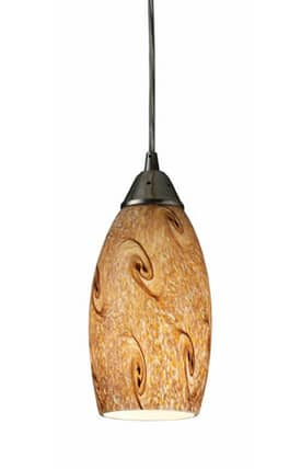 Elk Lighting Galaxy Galaxy 20001/1MG Pendant in Nickel Finish Lighting