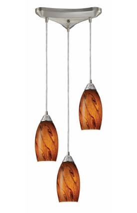 Elk Lighting Galaxy Galaxy 20001/3BG Pendant in Nickel Finish Lighting