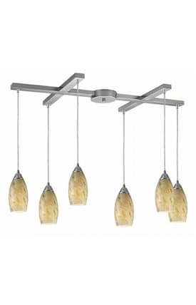 Elk Lighting Galaxy Galaxy 20001/6CG Pendant in Nickel Finish Lighting