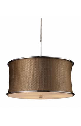 Elk Lighting Fabrique Fabrique 20031/3 Pendant in Polished Chrome Finish Lighting