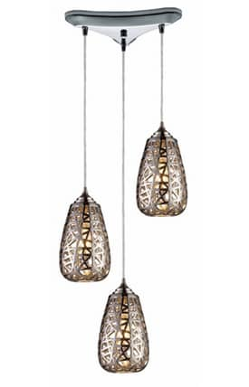 Elk Lighting Nestor Nestor 20064/3 Pendant in Chrome Finish Lighting