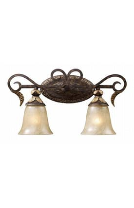 Elk Lighting Regency Regency 2151/2 2 Light Bath Fixture in Burnt Bronze Finish Lighting