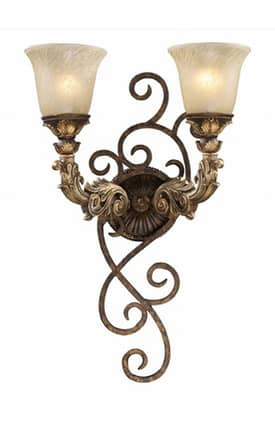 Elk Lighting Regency Regency 2155/2 Wall Sconce in Burnt Bronze Finish Lighting