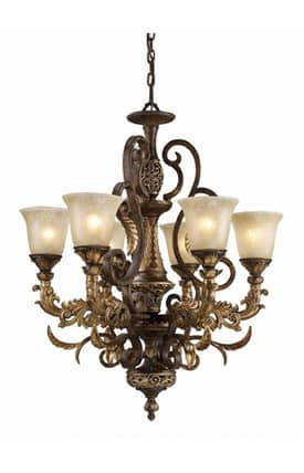 Elk Lighting Regency Regency 2163/6 6 Light Chandelier in Burnt Bronze Finish Lighting