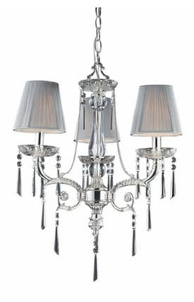 Elk Lighting Princess Princess 2395/3 3 Light Chandelier in Polished Silver Finish Lighting