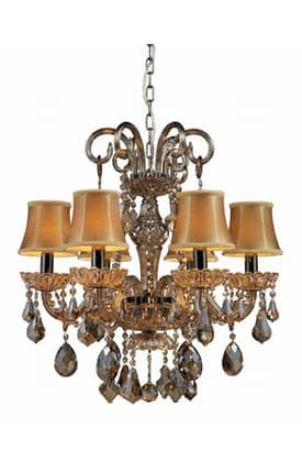 Elk Lighting Jolianne Jolianne 24001/6 6 Light Chandelier in Black Nickel Finish Lighting