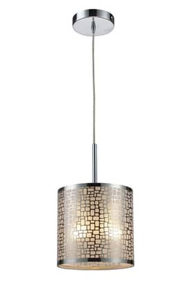 Elk Lighting Medina Medina 31041/1 Pendant in Polished Stainless Steel Finish Lighting