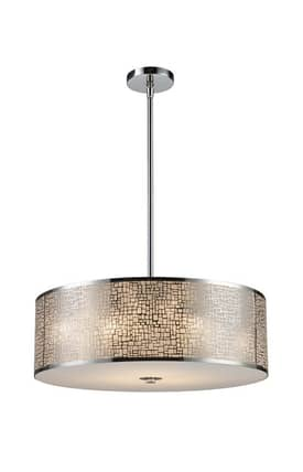 Elk Lighting Medina Medina 31043/5 Pendant in Polished Stainless Steel Finish Lighting