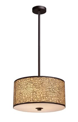 Elk Lighting Medina Medina 31046/3 Pendant in Aged Bronze Finish Lighting