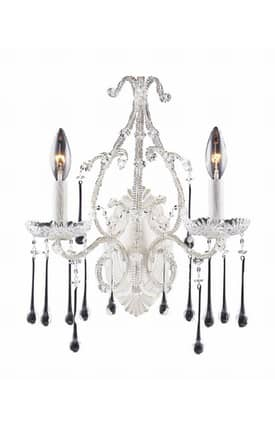 Elk Lighting Opulence Opulence 4000/2CL Wall Sconce in Antique White Finish Lighting