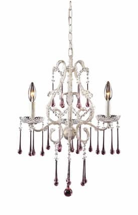 Elk Lighting Opulence Opulence 4001/3RS 3 Light Chandelier in Antique White Finish Lighting