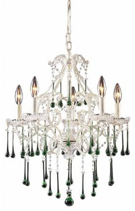 Elk Lighting Opulence Opulence 4002/5LM 5 Light Chandelier in Antique White Finish Lighting