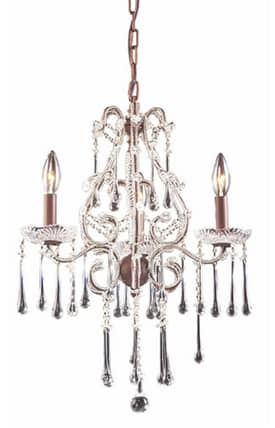Elk Lighting Opulence Opulence 4011/3CL 3 Light Chandelier in Rust Finish Lighting