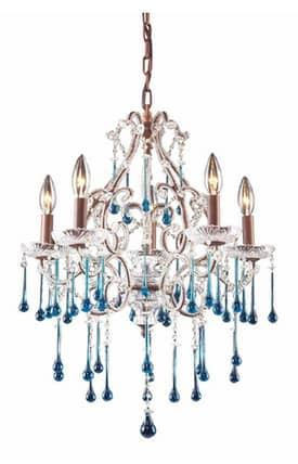 Elk Lighting Opulence Opulence 4012/5AQ 5 Light Chandelier in Rust Finish Lighting