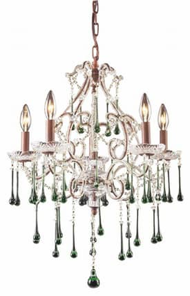 Elk Lighting Opulence Opulence 4012/5LM 5 Light Chandelier in Rust Finish Lighting