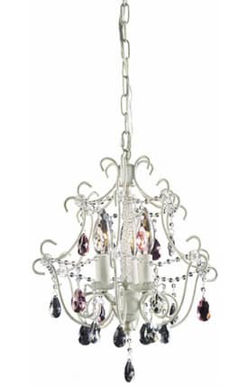 Elk Lighting Minique Minique 4041/3 3 Light Chandelier in Antique White Finish Lighting