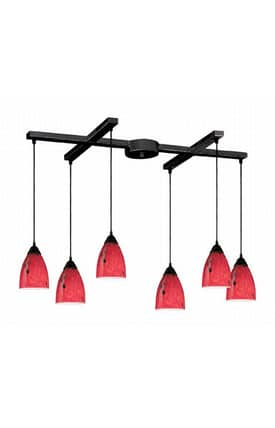 Elk Lighting Classico Classico 406-6FR Pendant in Dark Rust Finish Lighting