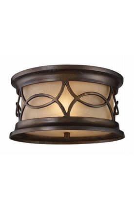 Elk Lighting Burlington Burlington 41999/2 2 Light Flush Mount in Hazelnut Bronze Finish Lighting