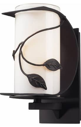 Elk Lighting Hedera Hedera 42070/1 Wall Sconce in Weathered Charcoal Finish Lighting