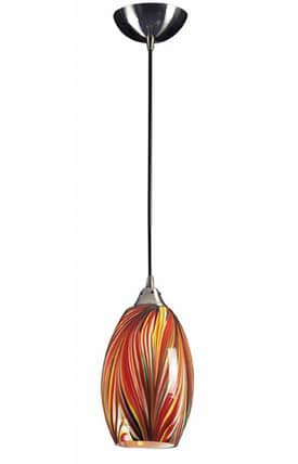 Elk Lighting Mulinello Mulinello 517-1M Pendant in Satin Nickel Finish Lighting