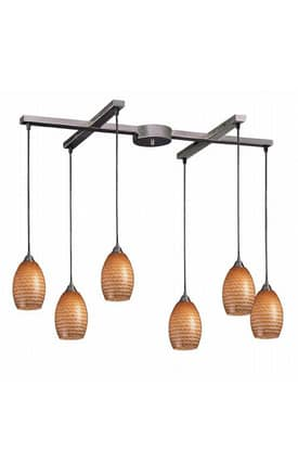 Elk Lighting Mulinello Mulinello 517-6C Pendant in Satin Nickel Finish Lighting