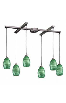 Elk Lighting Mulinello Mulinello 517-6J Pendant in Satin Nickel Finish Lighting