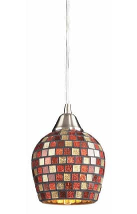 Elk Lighting Fusion Fusion 528-1MLT Pendant in Satin Nickel Finish Lighting