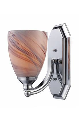 Elk Lighting Vanity Vanity 570-1C-CR 1 Light Bath Fixture in Polished Chrome Finish Lighting