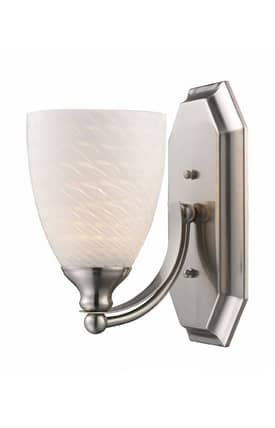 Elk Lighting Vanity Vanity 570-1N-WS 1 Light Bath Fixture in Satin Nickel Finish Lighting
