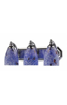 Elk Lighting Vanity Vanity 570-3C-BL 3 Light Bath Fixture in Polished Chrome Finish Lighting