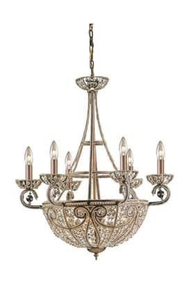 Elk Lighting Elizabethan 5967/6+4 10 Light Chandelier in Dark Bronze Lighting