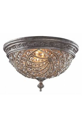 Elk Lighting Renaissance Renaissance 6232/4 4 Light Flush Mount in Sunset Silver Finish Lighting