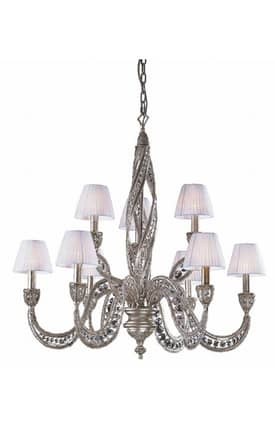 Elk Lighting Renaissance Renaissance 6237/6+3 9 Light Chandelier in Sunset Silver Finish Lighting