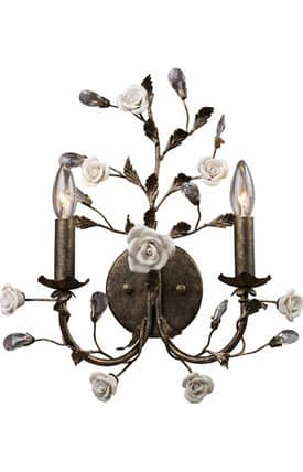 Elk Lighting Heritage Heritage 8080/2 Wall Sconce in Deep Rust Finish Lighting