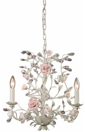 Elk Lighting Heritage Heritage 8091/3 3 Light Chandelier in Cream Finish Lighting