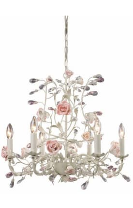 Elk Lighting Heritage Heritage 8092/6 6 Light Chandelier in Cream Finish Lighting