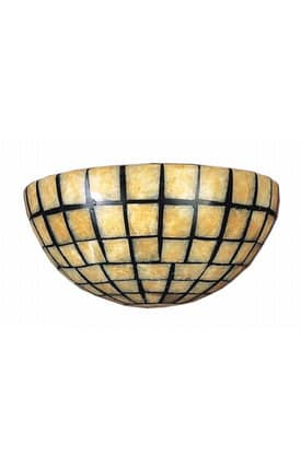 Elk Lighting Stone Mosaic Stone Mosaic 8819/2 Wall Sconce in Dark Antique Brass Finish Lighting