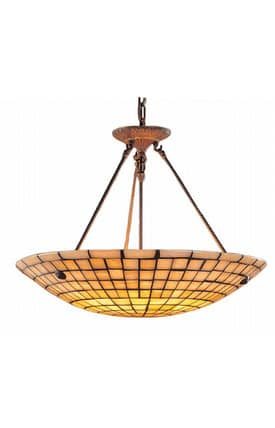 Elk Lighting Stone Mosaic Stone Mosaic 8820/8 Pendant in Dark Antique Brass Finish Lighting