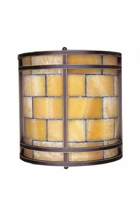 Elk Lighting Stone Mosaic Stone Mosaic 8882/2 Wall Sconce in Dark Antique Brass Finish Lighting