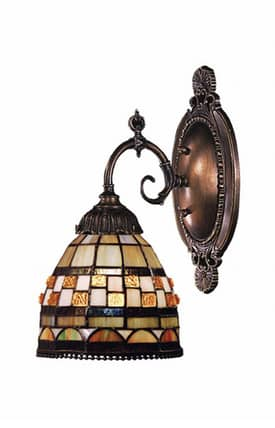 Elk Lighting Mix-N-Match Mix-N-Match 071-TB-10 1 Light Wall Sconce in Tiffany Bronze Finish Lighting