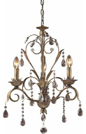 Elk Lighting Angelite Angelite 08083-WS 3 Light Chandelier in Weathered Silver Finish Lighting