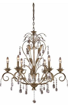 Elk Lighting Angelite Angelite 08086-WS 6 Light Chandelier in Weathered Silver Finish Lighting