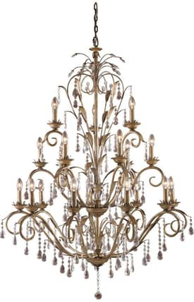 Elk Lighting Angelite Angelite 08088-WS 18 Light Chandelier in Weathered Silver Finish Lighting
