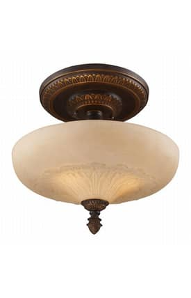 Elk Lighting Restoration Restoration 08094-AGB Semi Flush Mount in Golden Bronze Finish Lighting