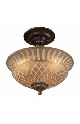 Elk Lighting Restoration Restoration 08097-AGB Semi Flush Mount in Golden Bronze Finish Lighting
