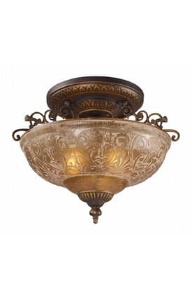 Elk Lighting Restoration Restoration 08099-AGB Semi Flush Mount in Golden Bronze Finish Lighting