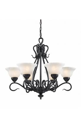 Elk Lighting Buckingham Buckingham 256-BK 6 Light Chandelier in Matte Black Finish Lighting