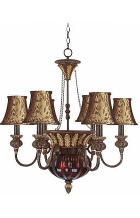 Elk Lighting Charlotte Charlotte 326-GC-SH13 6 Light Chandelier in Golden Coffee Finish Lighting