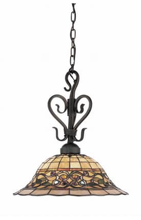 Elk Lighting Tiffany Tiffany Buckingham 362-VA Pendant in Vintage Antique Finish Lighting
